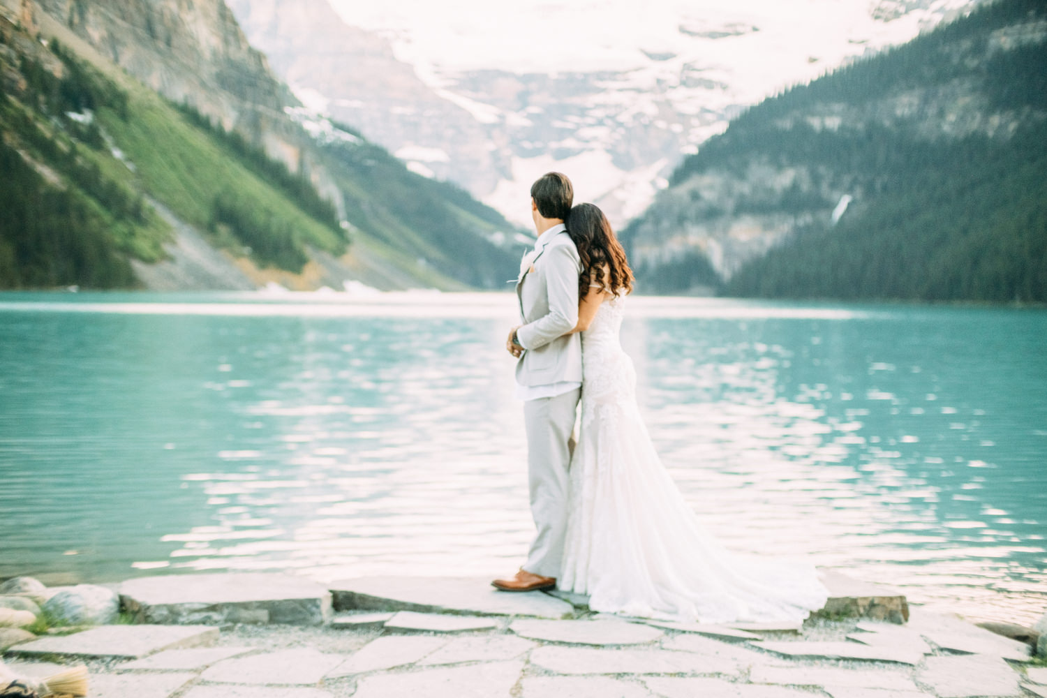 Lake Louise Wedding outside