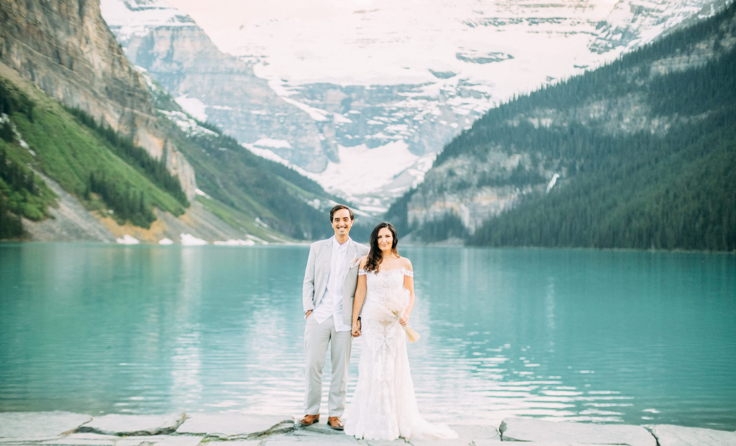 Lake Louise Elopement Wedding Photographer