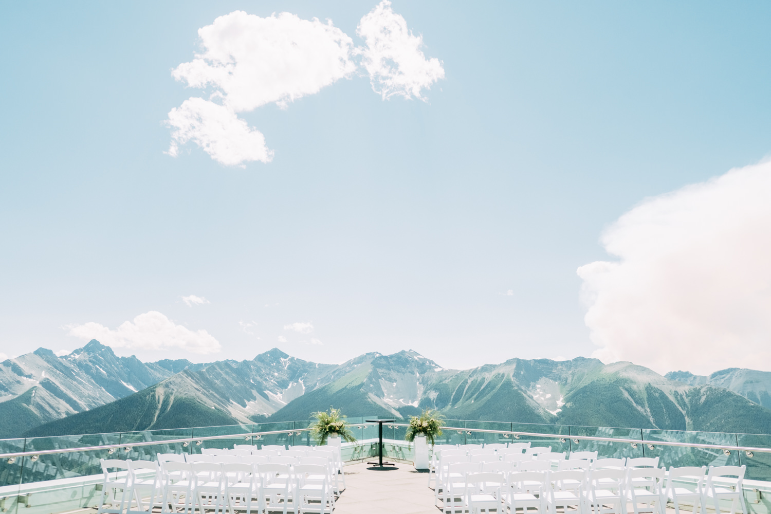 Mountain Top Wedding Venue Sky Bistro Banff