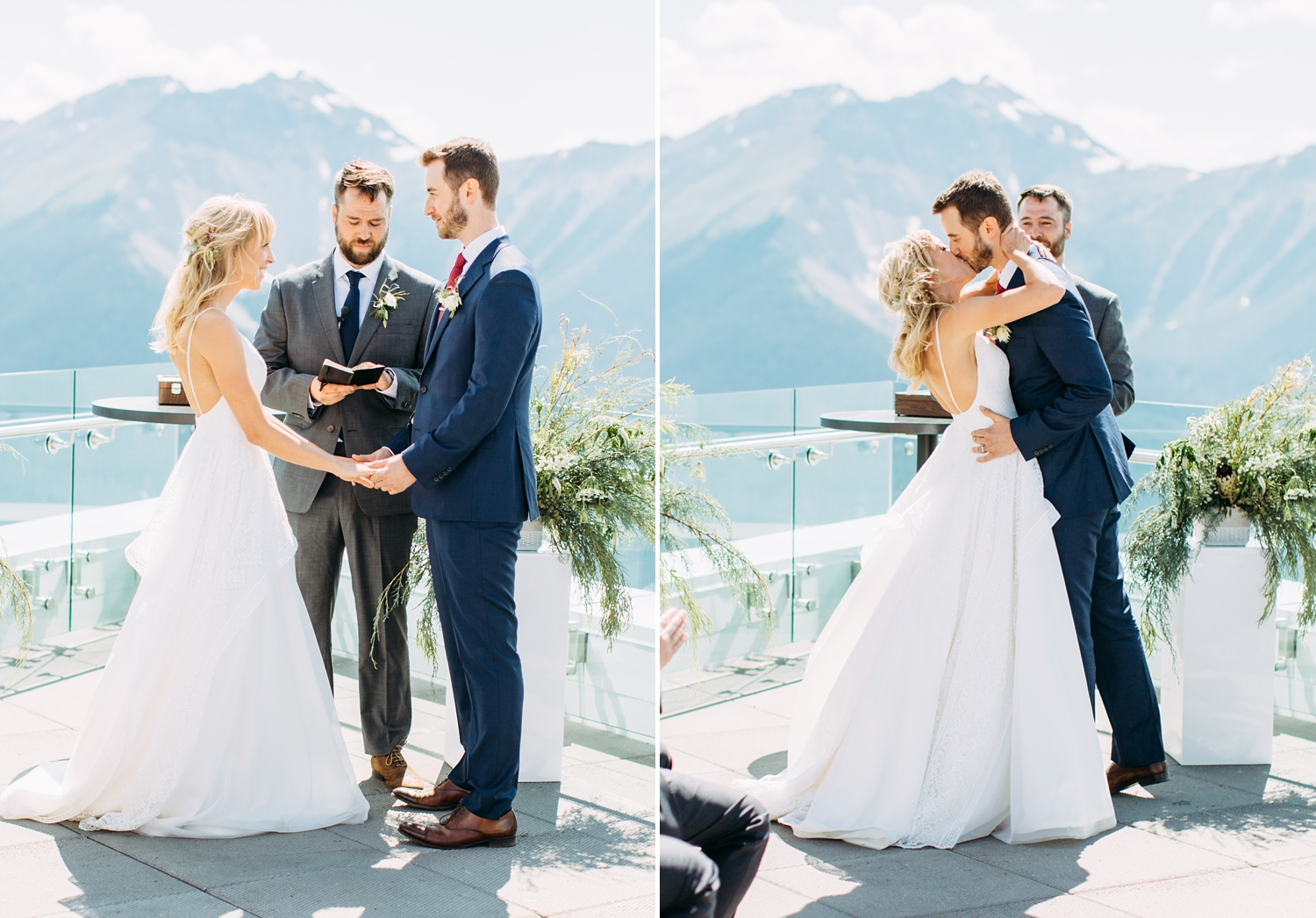 Mountain Top Wedding View