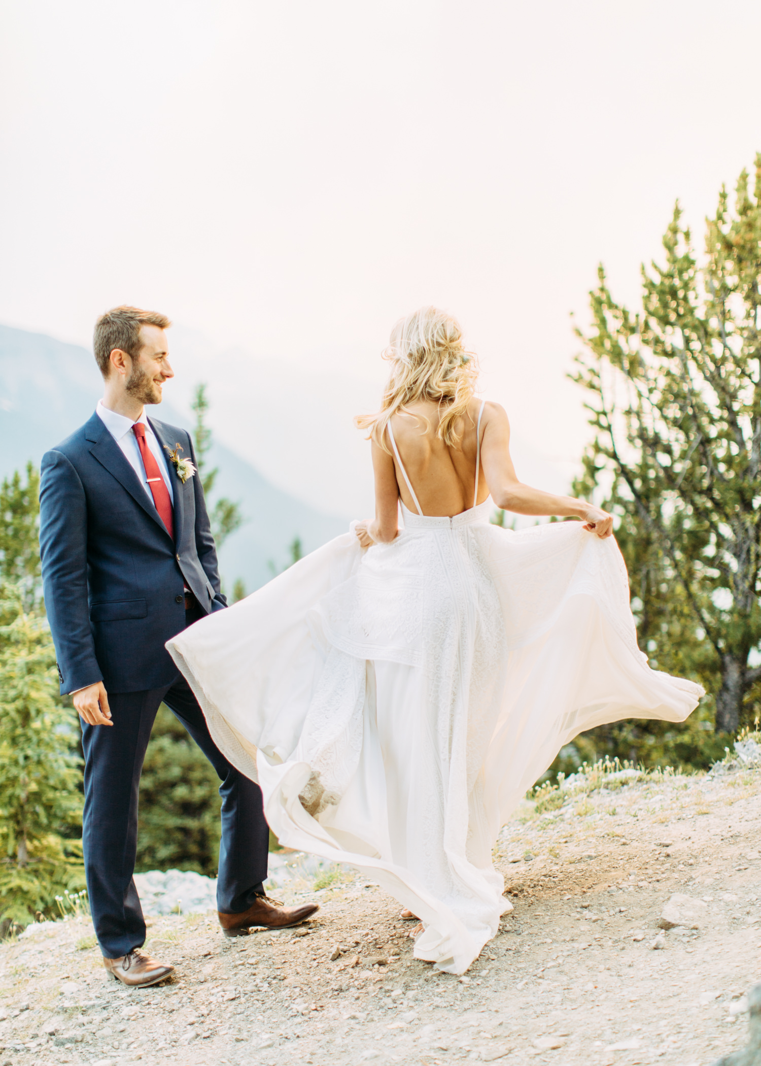 Unique wedding dress shots