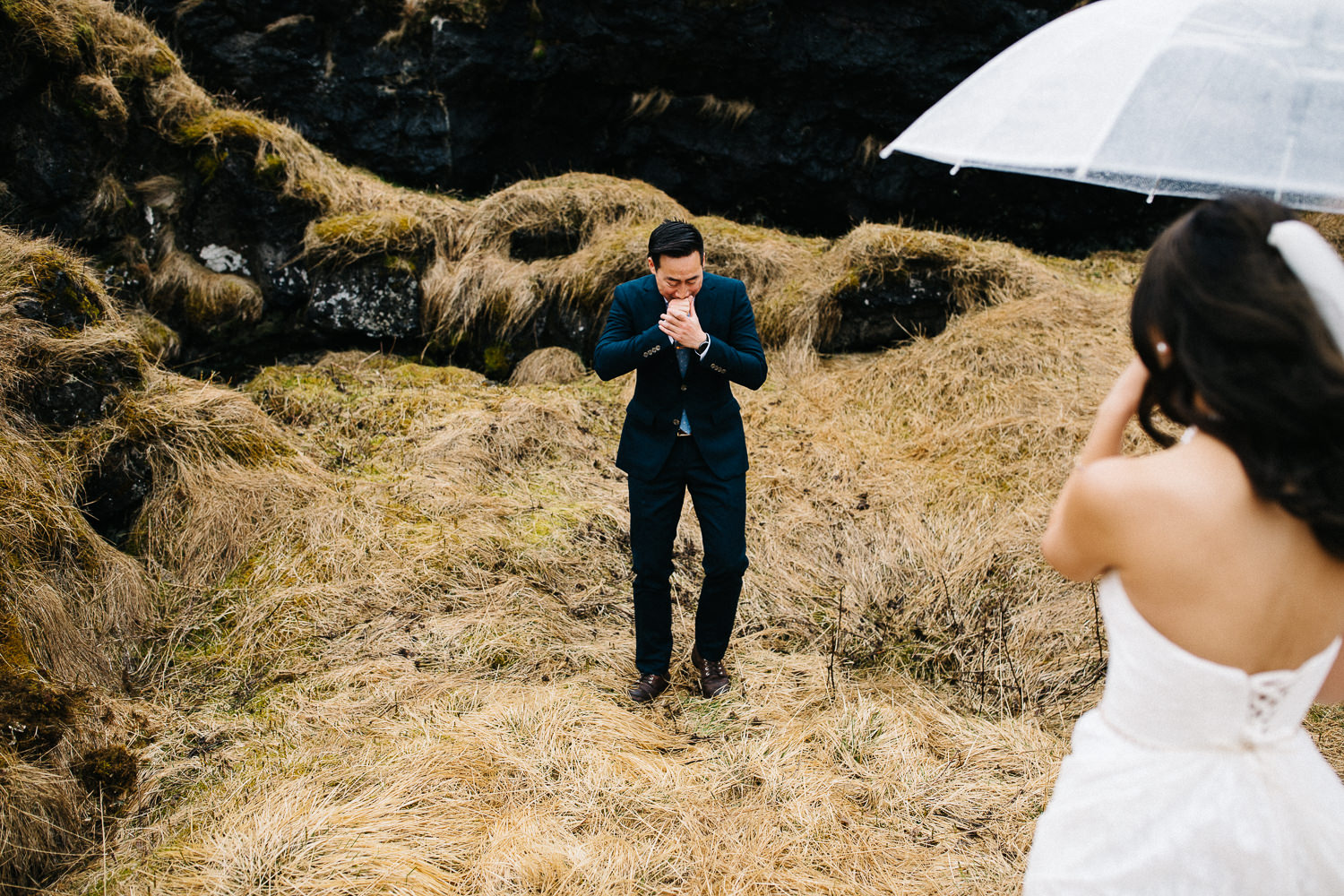 amazing first looks wedding iceland